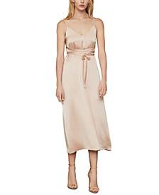 Satin Tie-Waist Gown
