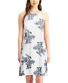 Juniors' Floral Embroidered Dress