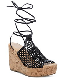 Haylinn Tie-Up Platform Wedges, Created for Macy's