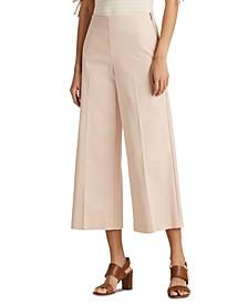 Petite Cotton Wide-Leg Pants