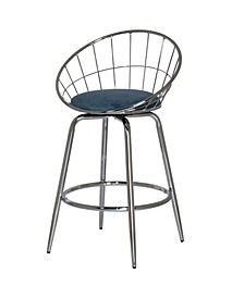 Bullock Rounded Disc Metal Swivel Counter Height Stool