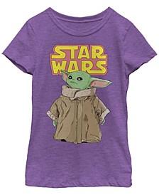 Star Wars The Mandalorian Big Girls The Child Cute Stare Cartoon Short Sleeve T-shirt