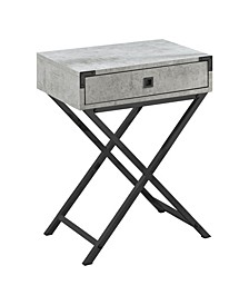 """Table - 24"""" H Cement Nickel"""