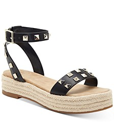 INC Women's Valetta Woven Flatform Espadrilles, Created for Macy's