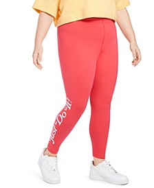 Plus Size Graphic-Print Jersey Leggings