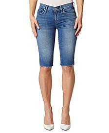 Amelia Cut-Off Knee-Length Shorts