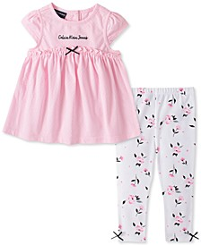 Baby Girls Tunic and Floral Print Leggings Set