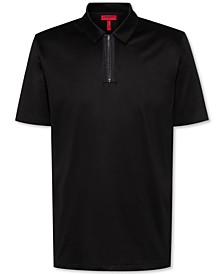 Men's Dolden Slim-Fit Zip Polo Shirt