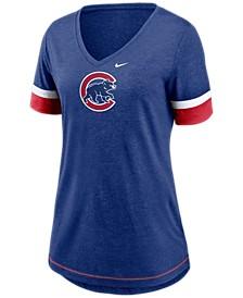 Chicago Cubs Women's Tri-Blend Fan T-Shirt