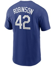 Brooklyn Dodgers Men's Coop Jackie Robinson Name and Number Player T-Shirt