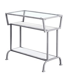 """Accent Table - 22"""" H Tempered Glass"""