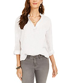 Petite Textured Popover Top, Created for Macy's