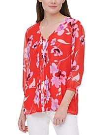 Plus Size Floral-Print Blouse