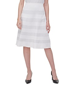 Rib-Knit A-Line Skirt
