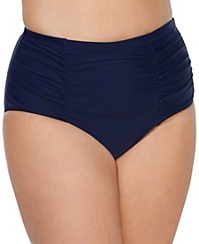 Trendy Plus Size Costa High-Waist Tummy-Control Bikini Bottoms
