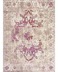 """Vivid Silk Vintage-Inspired Sarita Purple 5'3"""" x 7'7"""" Area Rug"""