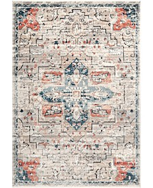 "Delicate Astra Persian Vintage-Inspired Blue 5'3"" x 7'3"" Area Rug"