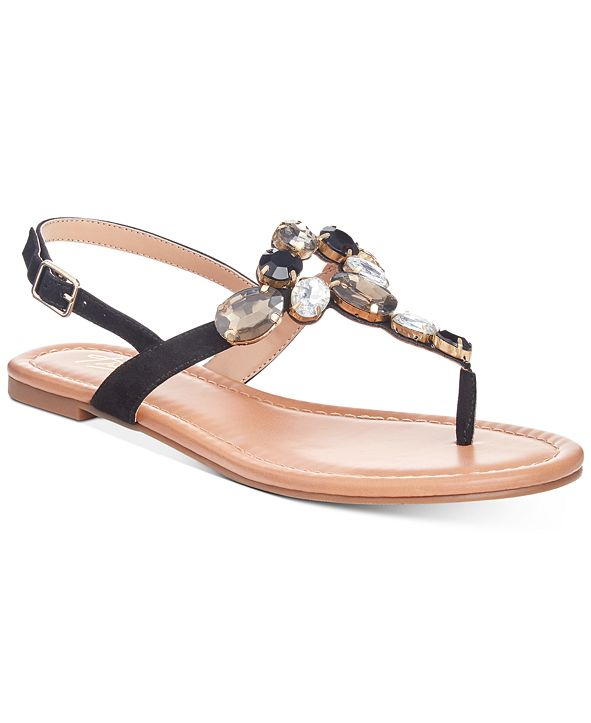 Thalia Sodi Jace Jewel Thong Flat Sandals, Created for Macy's