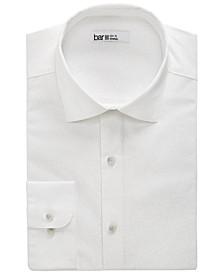 Men's Organic Cotton Tonal Coral-Print Slim Fit Dress Shirt, Created for Macy's