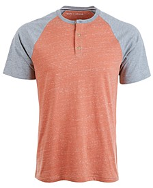 Men's Raglan Sleeve Henley, Created for Macy's