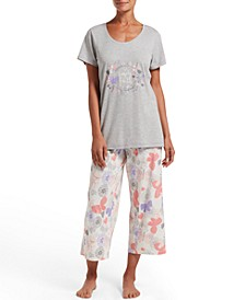 Women's Keep The Faith T-Shirt & Capri Pants Pajama Set