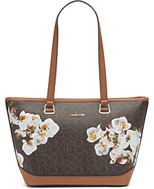 Janae Orchid Logo Tote