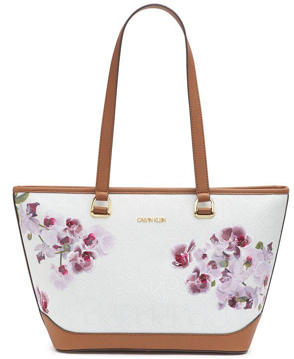 Calvin Klein Janae Orchid Logo Tote