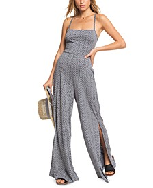 Juniors' One Last Time Strappy-Back Jumpsuit