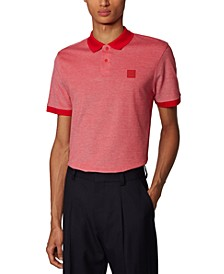BOSS Men's Parlay 70 Medium Red Polo Shirt
