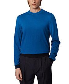 BOSS Men's Omanolo Medium Blue Sweater