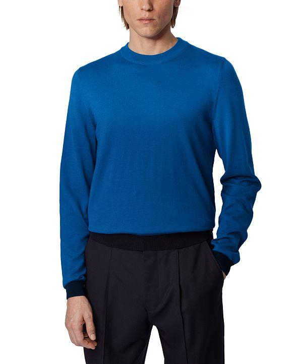 Hugo Boss BOSS Men's Omanolo Medium Blue Sweater