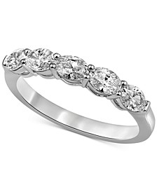 Diamond Oval Band (1 ct. t.w.) in 14k White Gold