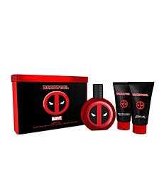 Marvel Men's 3 Piece Deadpool Eau De Toilette Gift Set