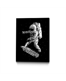 Robert Farkas Kickflip in Space Art Block Framed