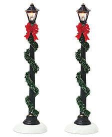 Department 56 Set of 2 Small Town Street Lamps