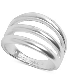 Silver-Tone Imitation Stack Ring