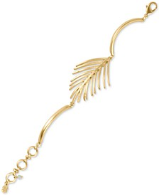 Gold-Tone Palm Leaf Bracelet