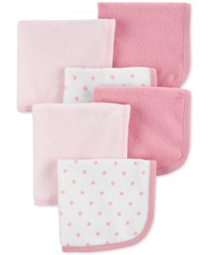 Carter's Baby Girls 6-pk. Washcloths In Pink