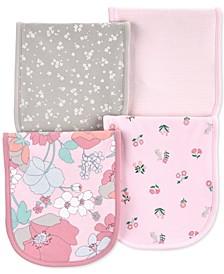 Baby Girls 4-Pk. Floral-Print  Burp Cloths