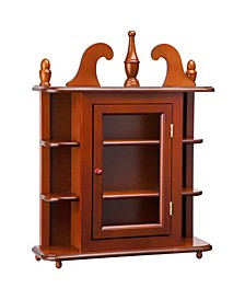 Savile Row Hardwood Wall Curio Display Cabinet