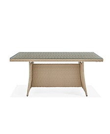 Canaan All-Weather Wicker Outdoor Cocktail Table