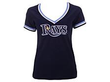 Women's Tampa Bay Rays Contrast Binding T-Shirt