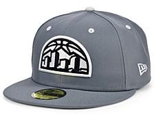 Denver Nuggets Storm Black White Logo 59FIFTY Cap