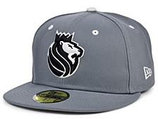 Sacramento Kings Storm Black White Logo 59FIFTY Cap