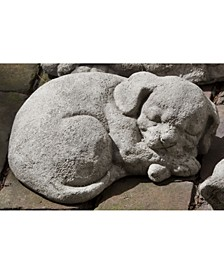 Curled Dog Small Garden Statue