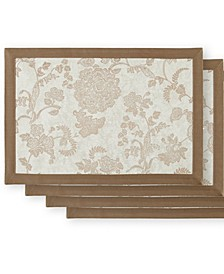 Marquis by Camlin Taupe/White Placemat Set of 4