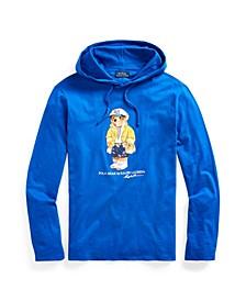Men's Denim Polo Bear Hooded T-Shirt