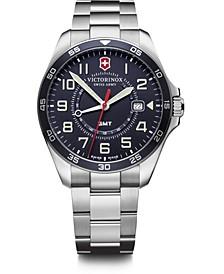 Men's Fieldforce GMT Stainless Steel Bracelet Watch 42mm