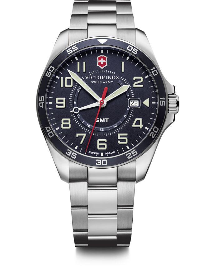 Victorinox Swiss Army - Men's Fieldforce GMT Stainless Steel Bracelet Watch 42mm