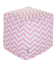 """Chevron Ottoman Pouf Cube with Removable Cover 17"""" x 17"""""""